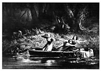Capture of the Daughters of D. Boone and Callaway by the Indians, 1852, bodmer