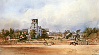 The church of New Harmony, 1832, bodmer