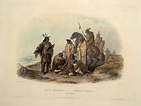 Crow Indians, plate 13 from volume 1 of `Travels in the Interior of North America-, 1843, bodmer