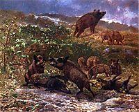 A Family of Wild Boar, bodmer