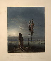 Idols of the Mandan Indians, plate 25 from volume 2 of `Travels in the Interior of North America-, 1844, bodmer