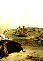 Indians Hunting The Bison [ Right ], 1832, bodmer
