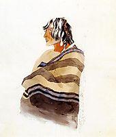 Kiasax, a Piegen Blackfeet Warrior, c.1833, bodmer