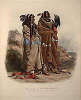 Mandan indians, 1843, bodmer
