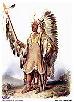 Mato-Tope, a Mandan chief, 1833, bodmer