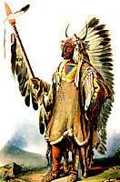 Mato Tope Mandan Chief, 1833, bodmer