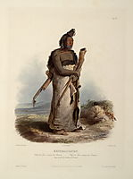 Mexkemahuastan, Chief of the Gros-Ventres of the Prairies, plate 20 from Volume 1 of -Travels in the Interior of North America-, 1843, bodmer