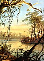 Mouth of the Wabash [ Indiana ], 1833, bodmer