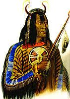 Noapeh Assiniboin Indian, 1833, bodmer