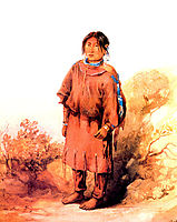 Piegan Blackfeet girl, bodmer