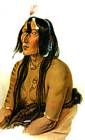 Psihdja Sahpa, Yanktonian Indian, 1833, bodmer