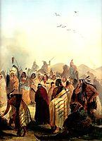 Scalp Dance of the Minatarres, 1832, bodmer