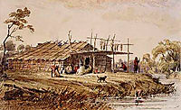 Summerhouse of Wahpeton, 1832, bodmer