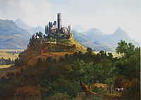 View of the Godesburg and the Seven Mountains, c.1836, bodmer
