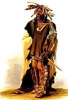 Wahk-ta-Ge-Li, a Sioux warrior , 1833, bodmer