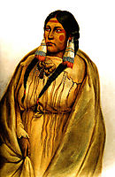 Woman of The Cree Tribe, 1832, bodmer