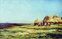 Ablyazov. Threshing, 1887, bogolyubov