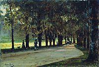 Alley in the park, Liechtenstein, 1889, bogolyubov