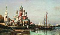 Easter procession in Yaroslavl, 1863, bogolyubov