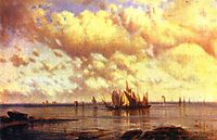 Sailboats in the bay, 1860, bogolyubov