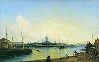 Smolny as seen from Bolshaya Okhta, 1851, bogolyubov