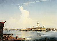 Smolny as seen from Bolshaya Okhta, 1852, bogolyubov