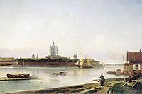 Smolny as seen from Bolshaya Okhta, c.1870, bogolyubov
