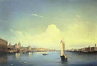 St. Petersburg at Sunset, 1850, bogolyubov