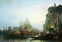 Venice at night, c.1850, bogolyubov