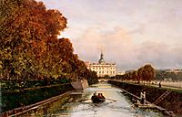 View to Michael-s Castle in Petersburg from Lebiazhy Canal, c.1880, bogolyubov