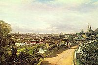 View of Moscow from the house of G.I. Chludov, 1878, bogolyubov