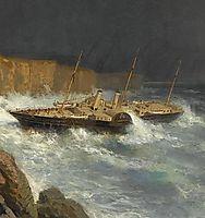 Wreck of Livadia (fragment), 1878, bogolyubov
