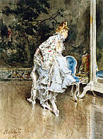 The Beauty Before The Mirror, boldini