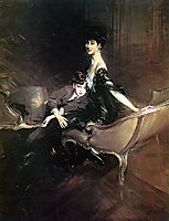 Consuelo, Duchess of Marlborough, with Her Son Ivor Spencer-Churchill, 1906, boldini