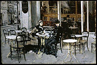 Conversation at the Cafe, boldini