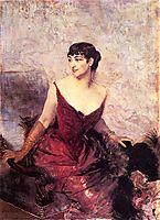 Countess de Rasty Seated in an Armchair, boldini