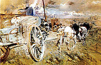 The dump at the door of Asier, 1887, boldini