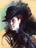 Girl In A Black Hat, 1890, boldini