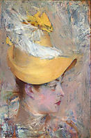 Head of a Lady with Yellow Sleeve, 1890, boldini