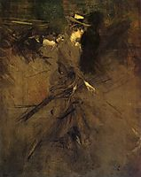 In the Promenade, 1905, boldini