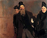 John Lewis Brown with Wife and Daughter, 1890, boldini