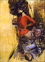 Lady in Red Coat, 1878, boldini