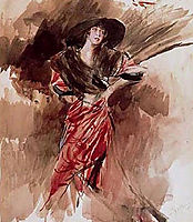 Lady in Red Dress, 1916, boldini