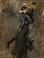 Lady Wearing a Straw Bonnet (Morning Promenade), 1905, boldini