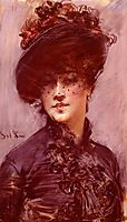 Lady with a Black Hat, boldini