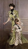 Madame Georges Hugo and her son Jean , 1898, boldini