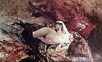 Naked Young Lady with Blanket, boldini