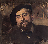 Portrait of the Artist Ernest Ange Duez, 1896, boldini