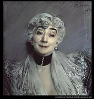 Portrait of the Countess de Martel de Janville, known as Gyp (1850-1932) , 1894, boldini