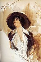 Portrait of Donna Franca Florio , 1912, boldini